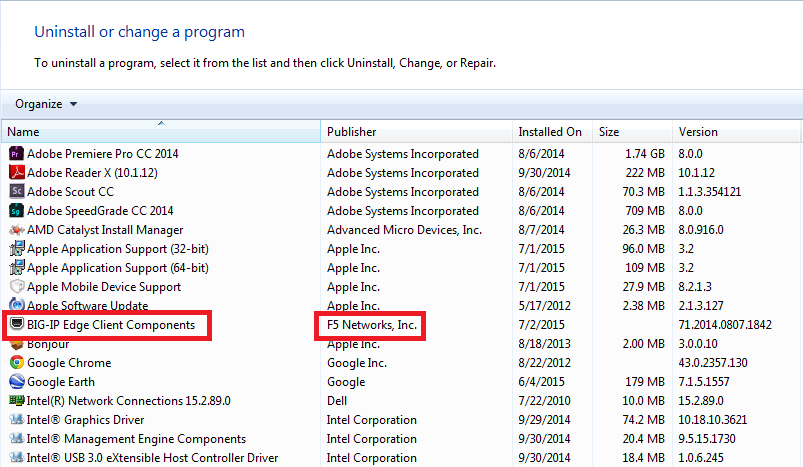 big-ip edge client components
